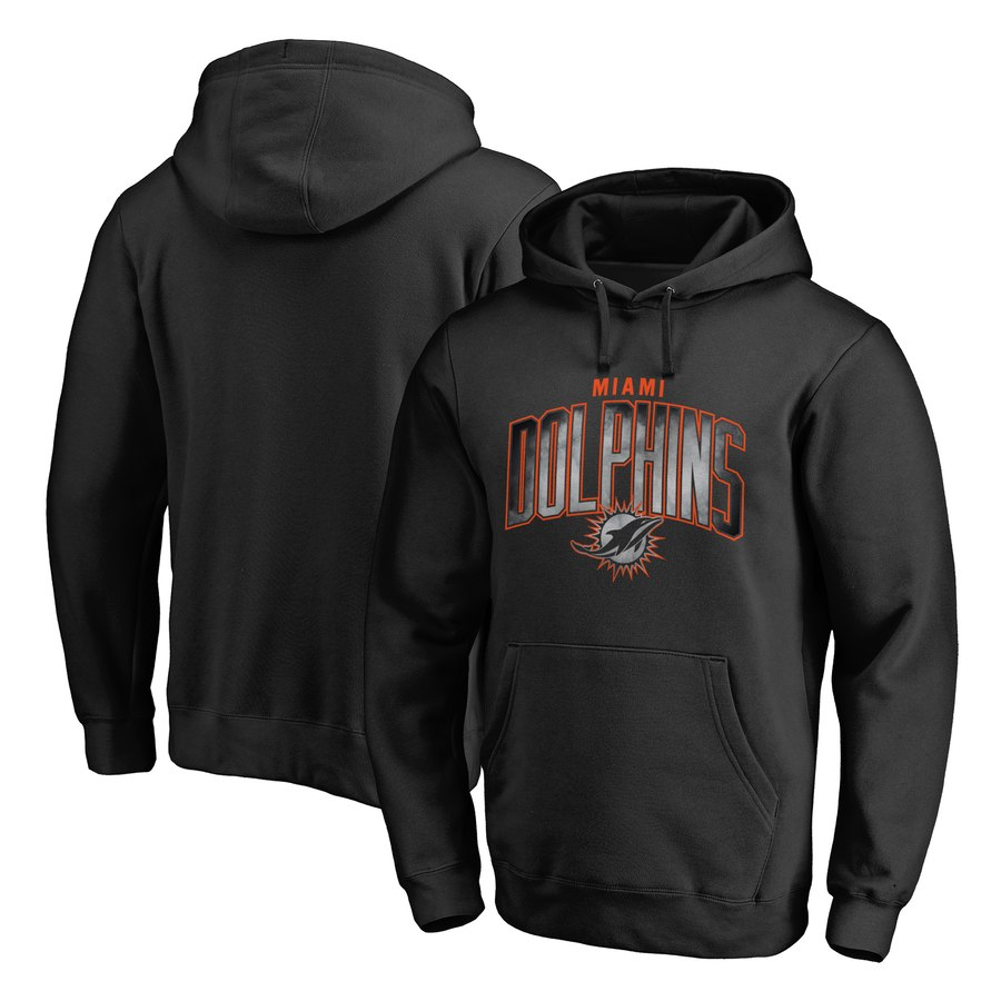 Miami Dolphins NFL Pro Line by Fanatics Branded Arch Smoke Pullover Hoodie Black
