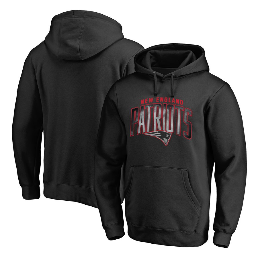 New England Patriots NFL Pro Line by Fanatics Branded Arch Smoke Pullover Hoodie Black