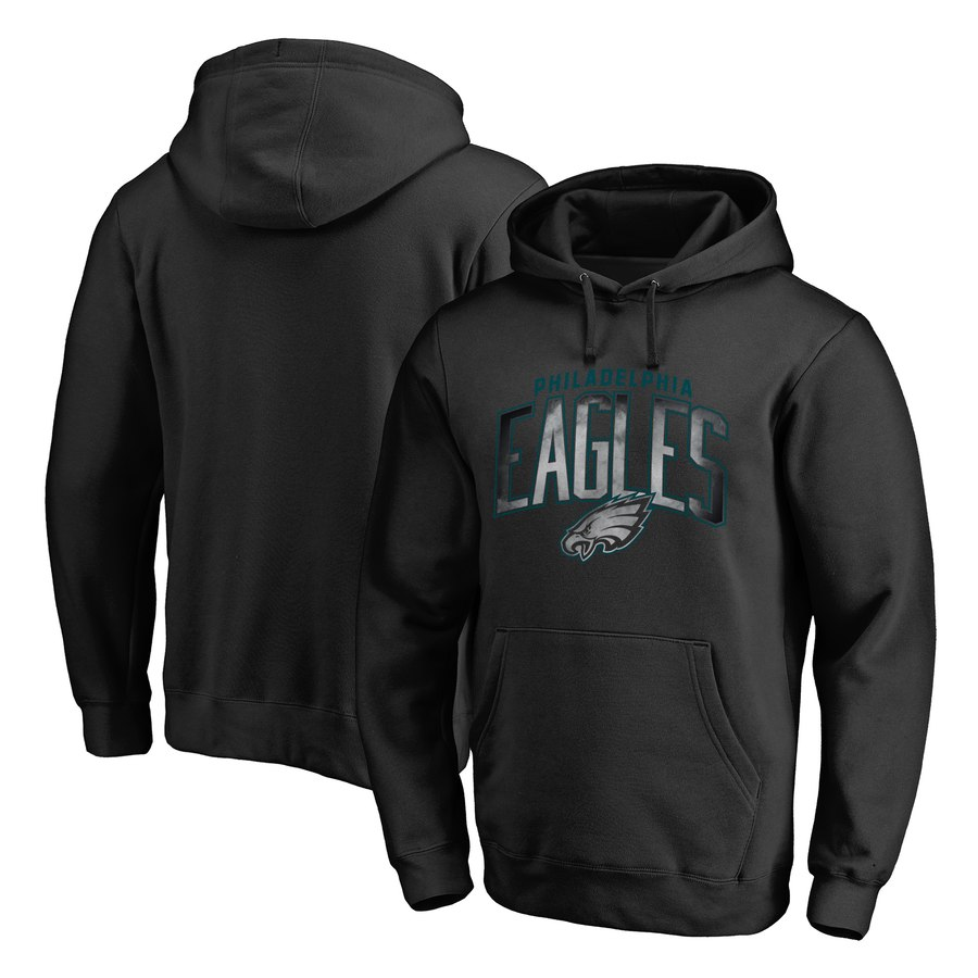 Philadelphia Eagles NFL Pro Line by Fanatics Branded Arch Smoke Pullover Hoodie Black