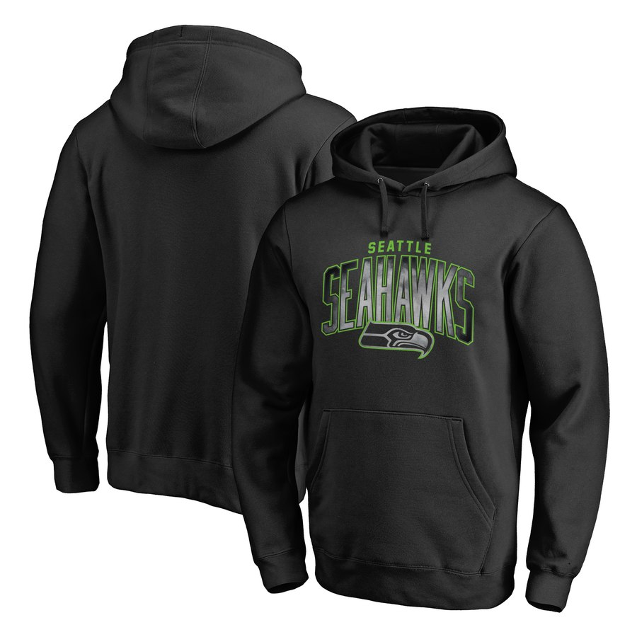 Seattle Seahawks NFL Pro Line by Fanatics Branded Arch Smoke Pullover Hoodie Black