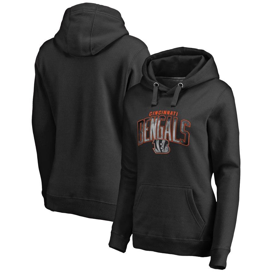 Cincinnati Bengals NFL Pro Line by Fanatics Branded Women's Plus Size Arch Smoke Pullover Hoodie