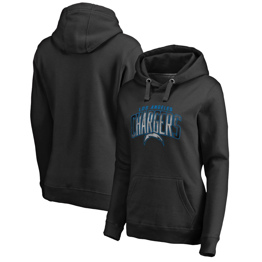 Los Angeles Chargers NFL Pro Line by Fanatics Branded Women's Plus Size Arch Smoke Pullover Hoodie