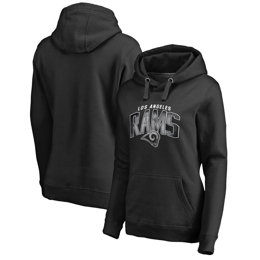 Los Angeles Rams NFL Pro Line by Fanatics Branded Women's Plus Size Arch Smoke Pullover Hoodie
