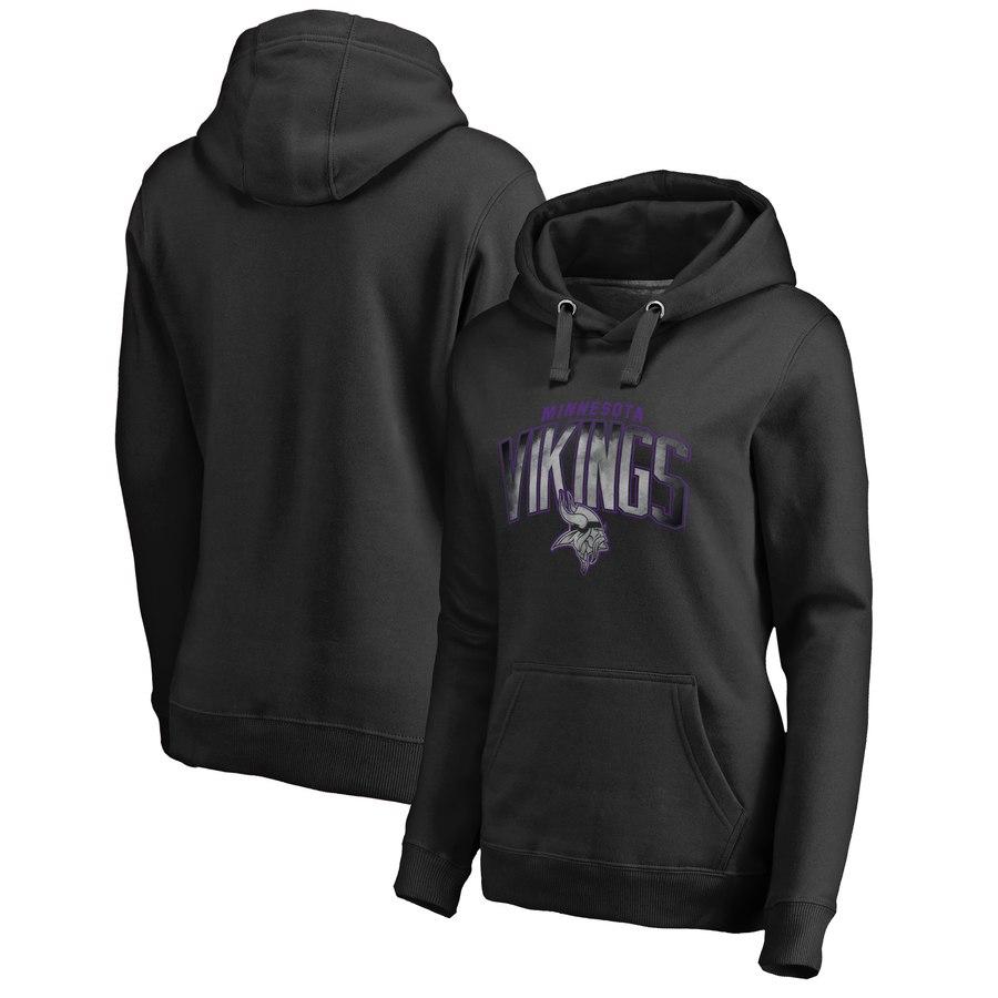 Minnesota Vikings NFL Pro Line by Fanatics Branded Women's Plus Size Arch Smoke Pullover Hoodie