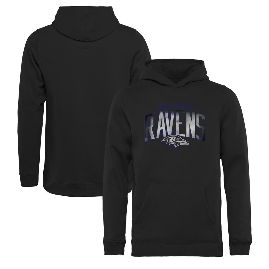Baltimore Ravens NFL Pro Line by Fanatics Branded Youth Arch Smoke Pullover Hoodie Black