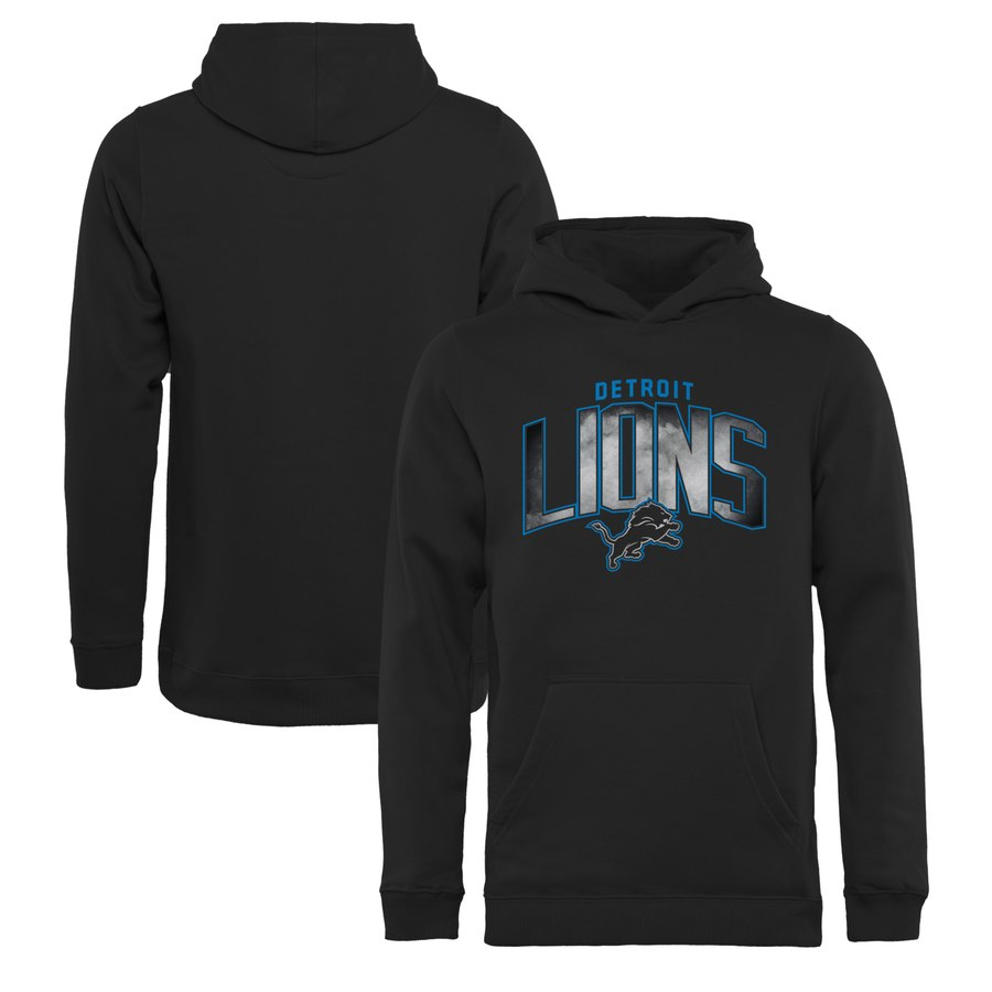 Detroit Lions NFL Pro Line by Fanatics Branded Youth Arch Smoke Pullover Hoodie Black