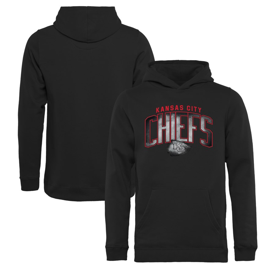 Kansas City Chiefs NFL Pro Line by Fanatics Branded Youth Arch Smoke Pullover Hoodie Black