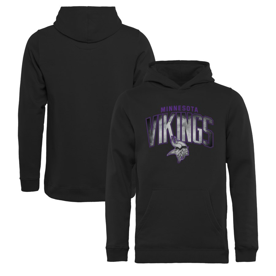 Minnesota Vikings NFL Pro Line by Fanatics Branded Youth Arch Smoke Pullover Hoodie Black