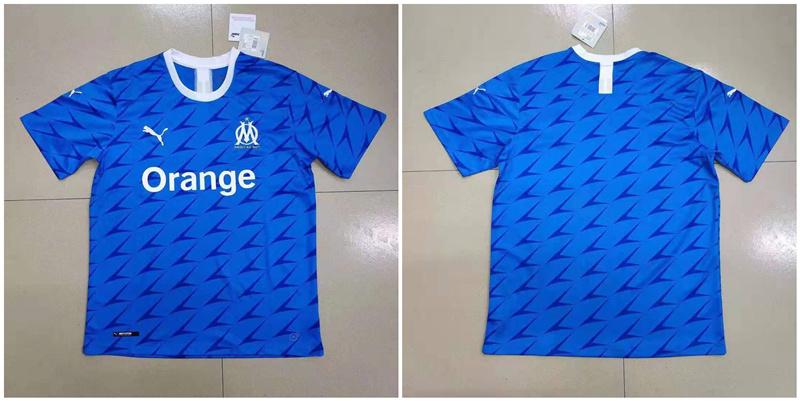 2019-20 Marseille Away Thailand Soccer Jersey