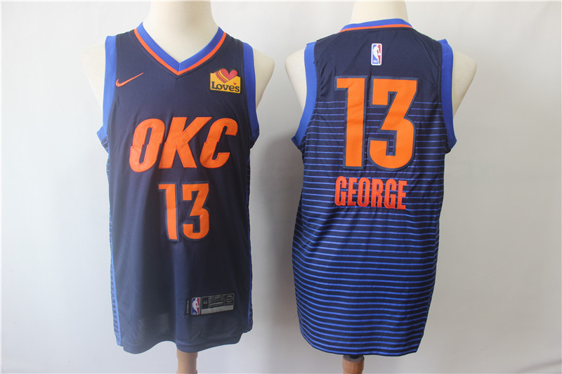 Thunder 13 Paul George Navy City Edition Nike Swingman Jersey
