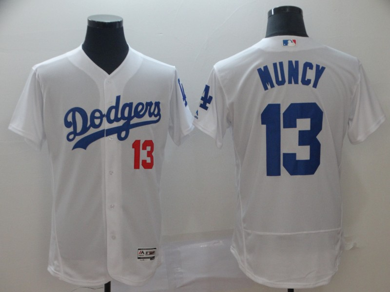 Dodgers 13 Max Muncy White Flexbase Jersey