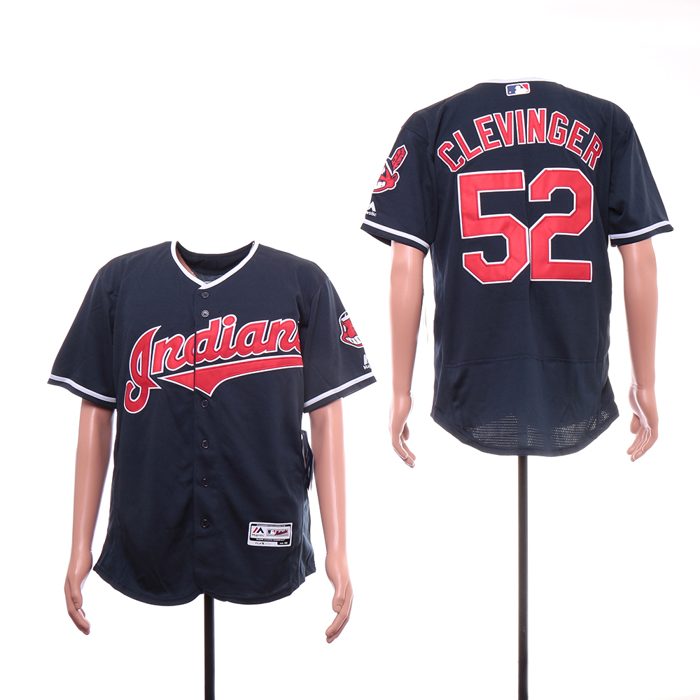 Indians 52 Mike Clevinger White Flexbase Jersey