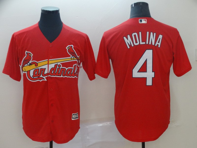 Cardinals 4 Yadier Molina Red Cool Base Jersey