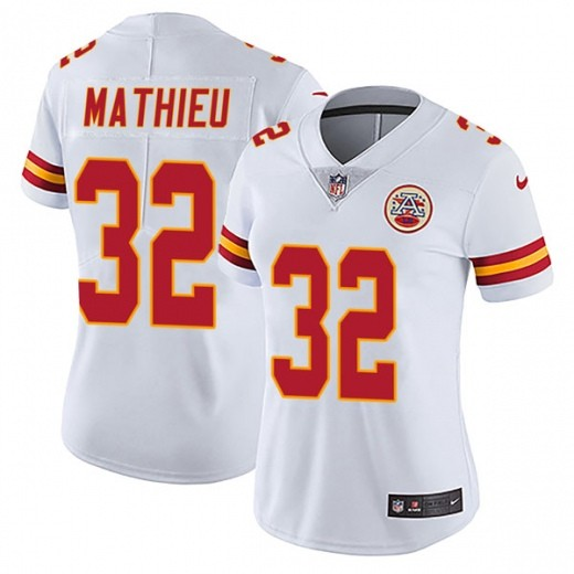 Chiefs 32 Tyrann Mathieu White Women Vapor Untouchable Limited Jersey