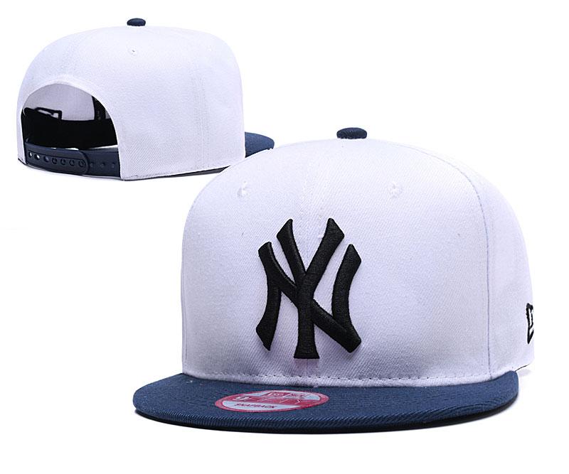 Yankees Team Logo White Adjustable Hat YD