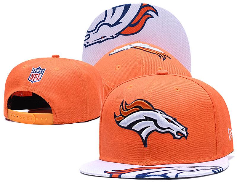 Broncos Team Logo Orange White Adjustable Hat YD