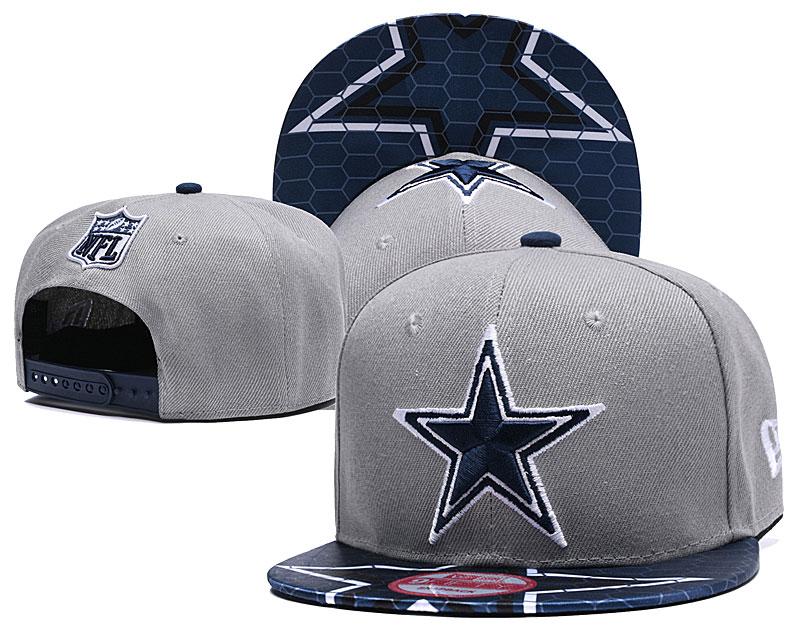 Cowboys Fresh Logo Gray Navy Adjustable Hat YD