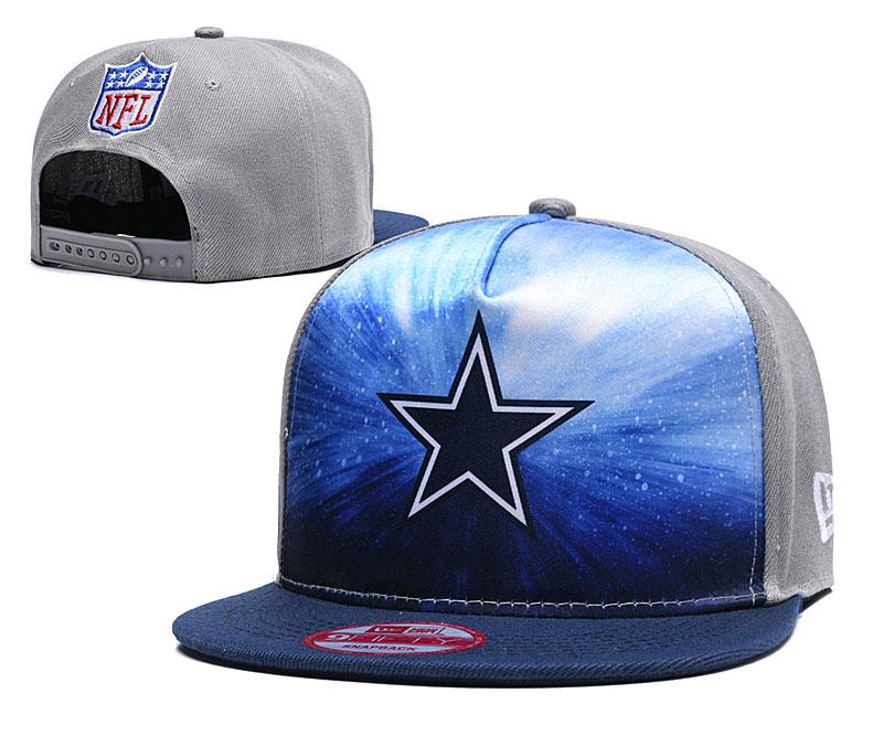 Cowboys Team Logo Gray Navy Adjustable Hat YD
