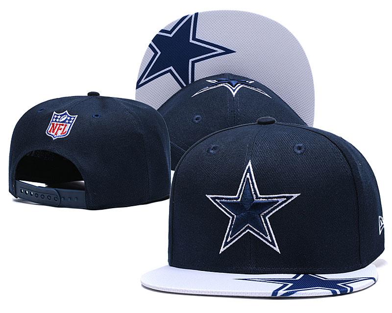 Cowboys Team Logo Navy White Adjustable Hat YD