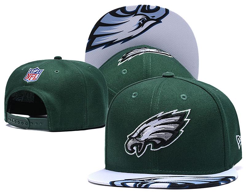 Eagles Fresh Logo Green Adjustable Hat YD