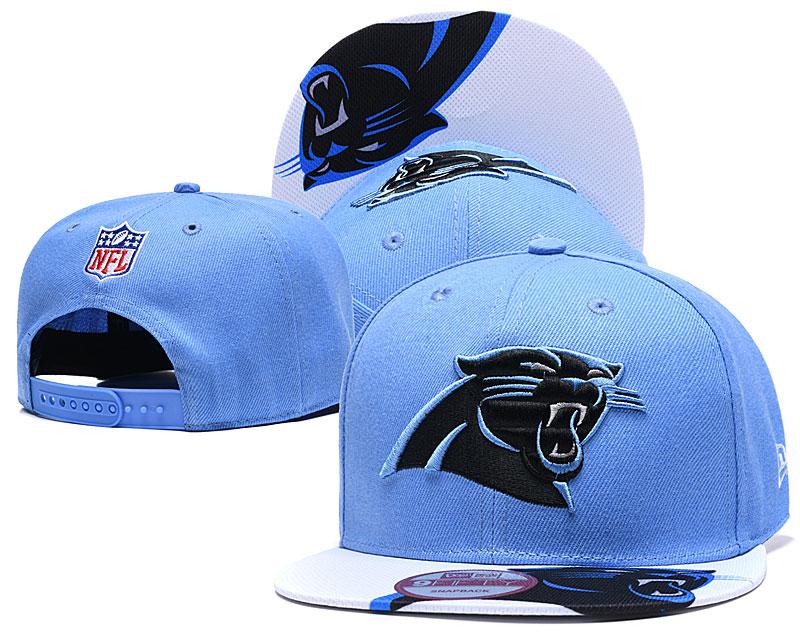 Panthers Team Logo Blue Adjustable Hat YD