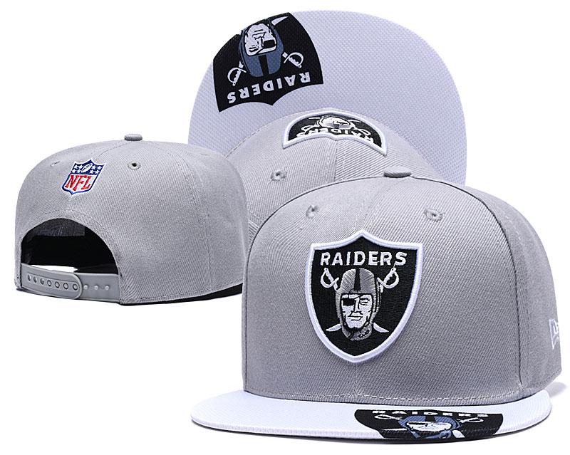 Raiders Team Logo Gray Adjustable Hat YD
