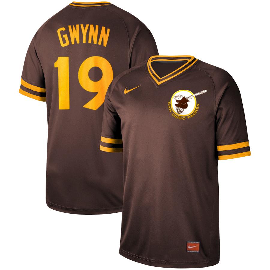 Padres 19 Tony Gwynn Brown Throwback Jersey