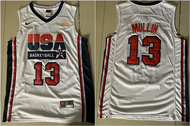 USA Basketball 1992 Dream Team 13 Chris Mullin White Jersey