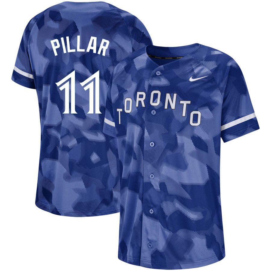 Blue Jays 11 Kevin Pillar Royal Camo Fashion Jersey