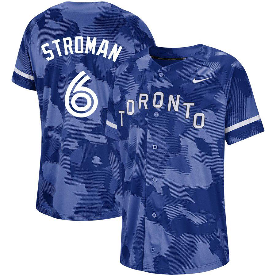 Blue Jays 6 Marcus Stroman Royal Camo Fashion Jersey