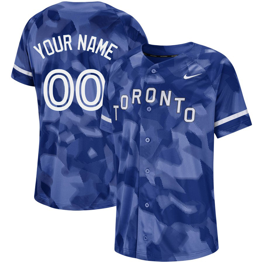 Blue Jays Royal Camo Fashion Men's Customized Jersey
