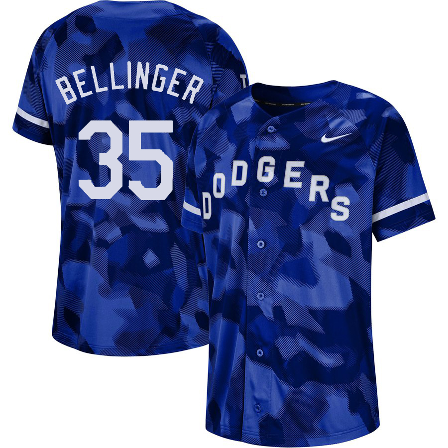 Dodgers 35 Cody Bellinger Royal Camo Fashion Jersey