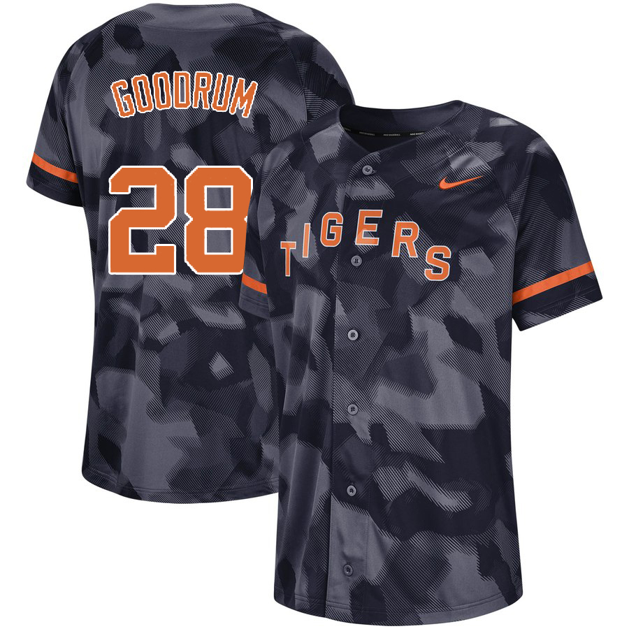 Tigers 28 Niko Goodrum Royal Camo Fashion Jersey