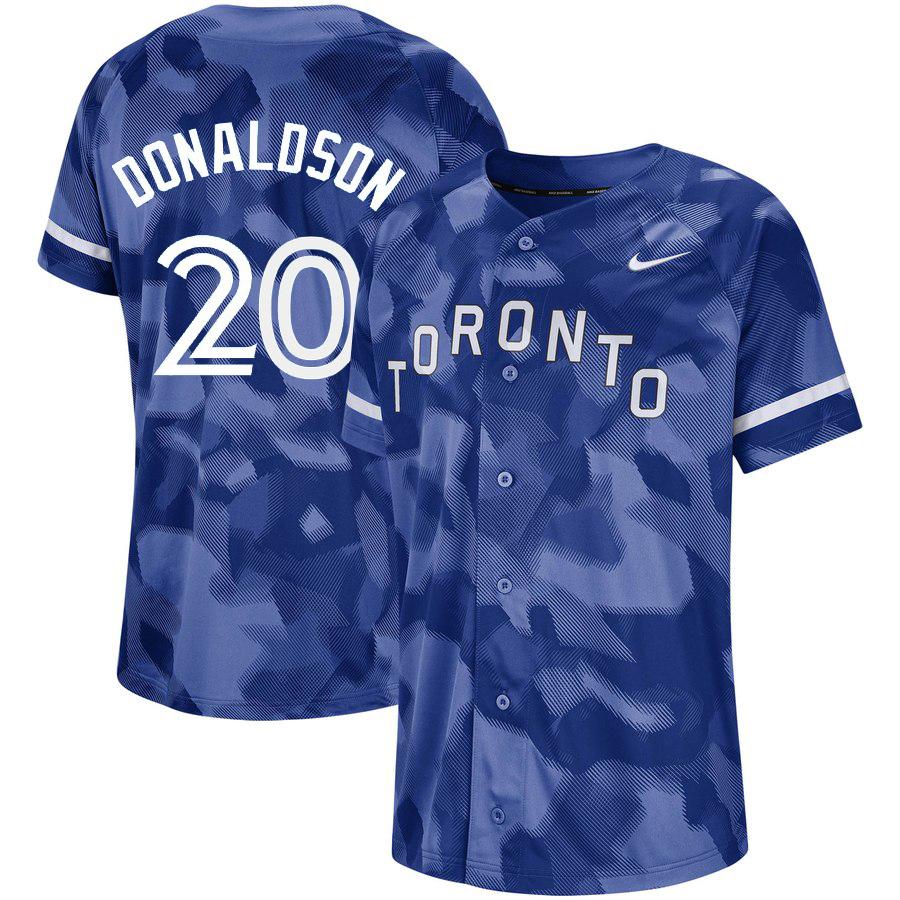 Blue Jays 20 Josh Donaldson Royal Camo Fashion Jersey