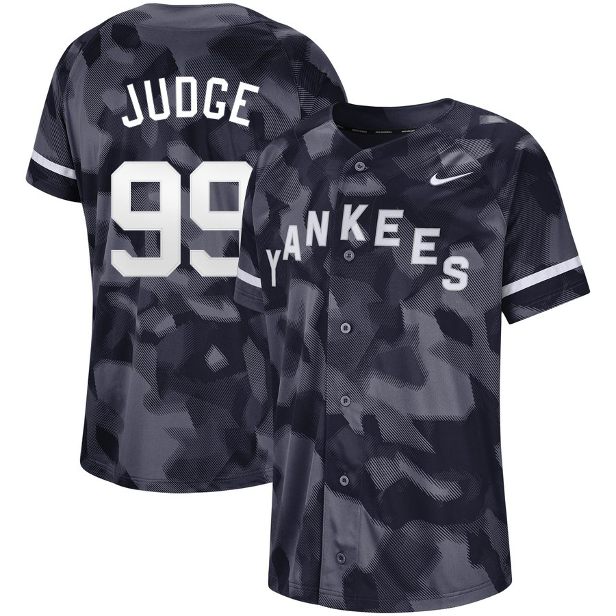 Yankees 99 Aaron Judge Black Camo Fashion Jersey