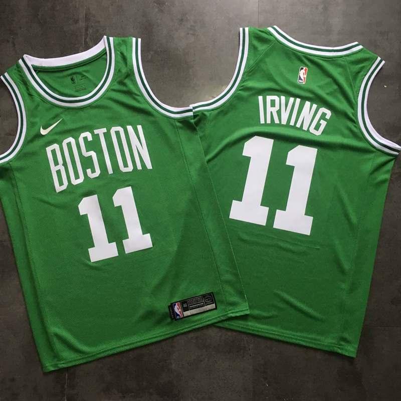 Celtics 11 Kyrie Irving Green Printed Nike Swingman Jersey