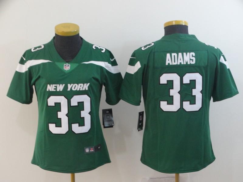 Nike Jets 33 Jamal Adams Green Women New 2019 Vapor Untouchable Limited Jersey