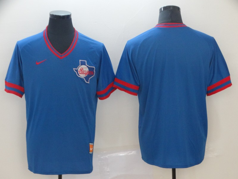Rangers Blank Blue Throwback Jersey