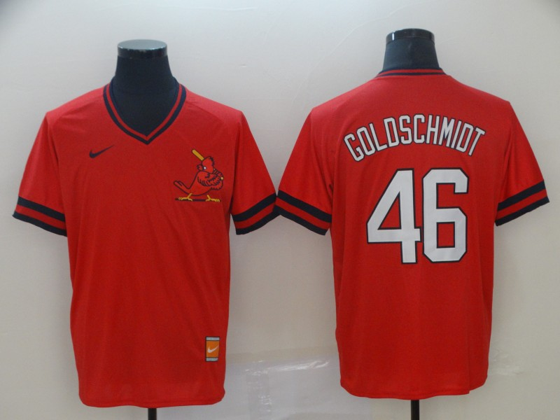 St. Louis Cardinals 46 Paul Goldschmidt Red Throwback Jersey