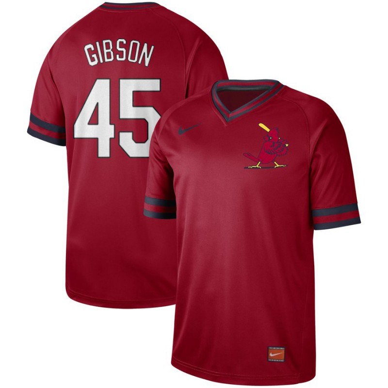 Cardinals 45 Bob Gibson Red Throwback Jersey