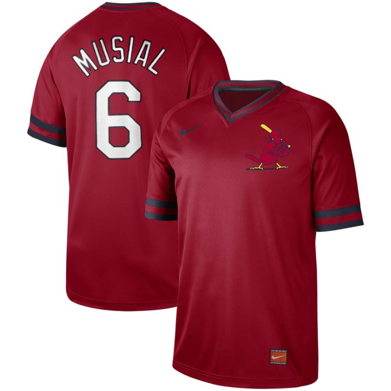 Cardinals 6 Stan Musial Red Throwback Jersey