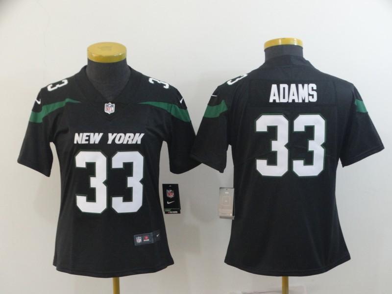 Nike Jets 33 Jamal Adams Black Women New 2019 Vapor Untouchable Limited Jersey