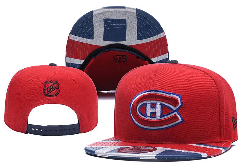 Canadiens Team Logo Red Adjustable Hat YD