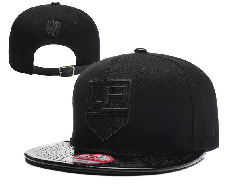 Los Angeles Kings Team Logo Black Adjustable Hat YD