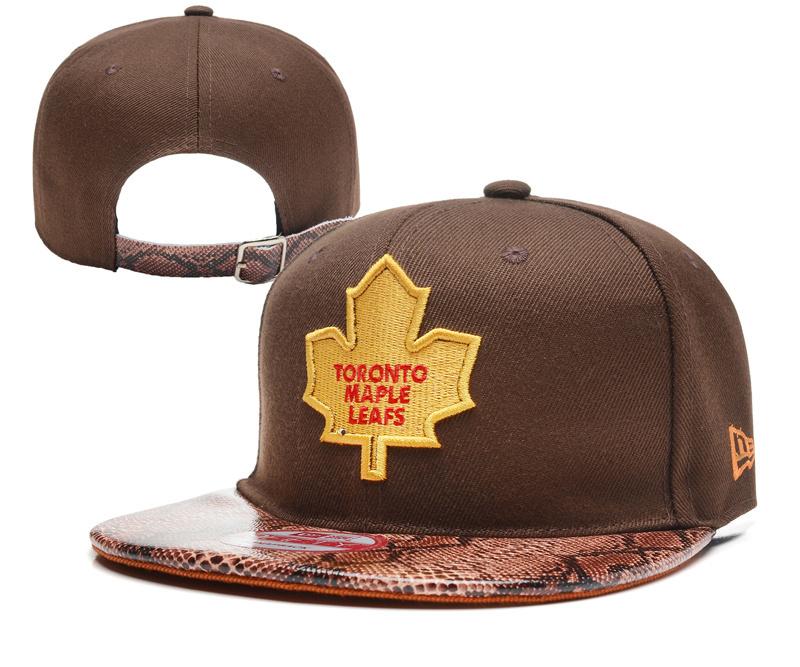 Maple Leafs Team Logo Brown Adjustable Hat YD