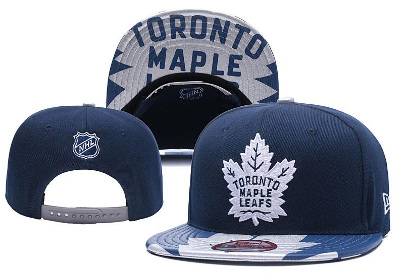 Maple Leafs Team Logo Navy Adjustable Hat YD