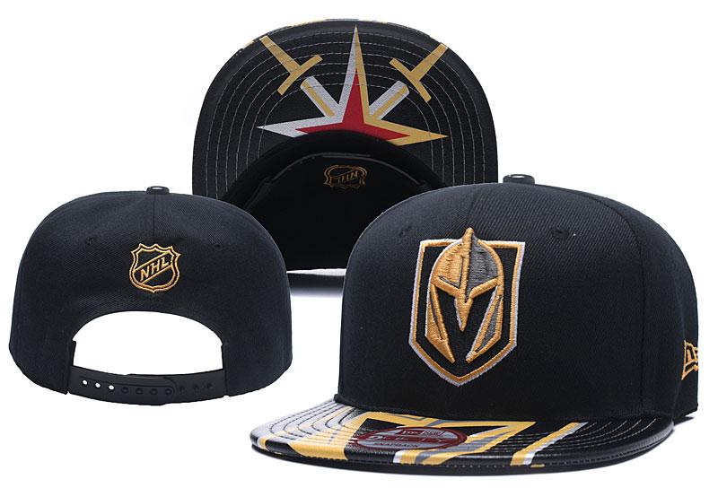 Vegas Golden Knights Fresh Logo Black Adjustable Hat YD