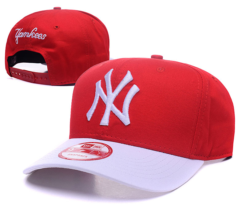 Yankees Fresh Logo Red White Adjustable Hat GS