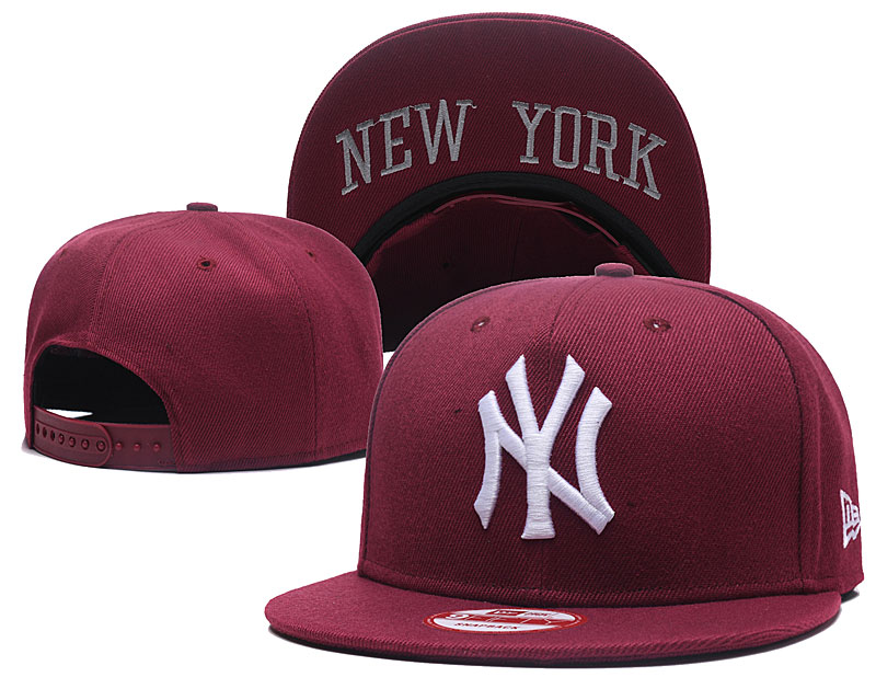 Yankees Fresh White Logo Red Adjustable Hat GS