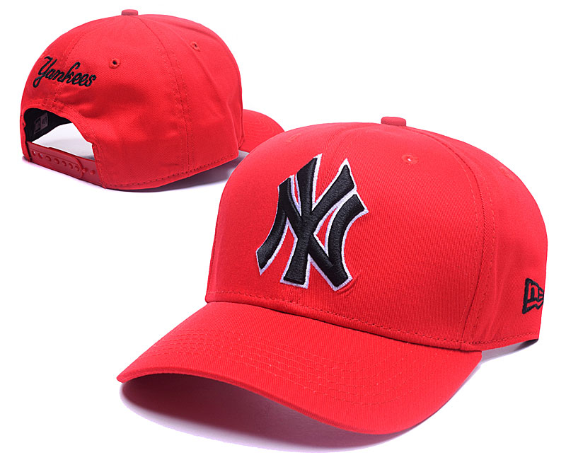 Yankees Team Logo Red Adjustable Hat GS